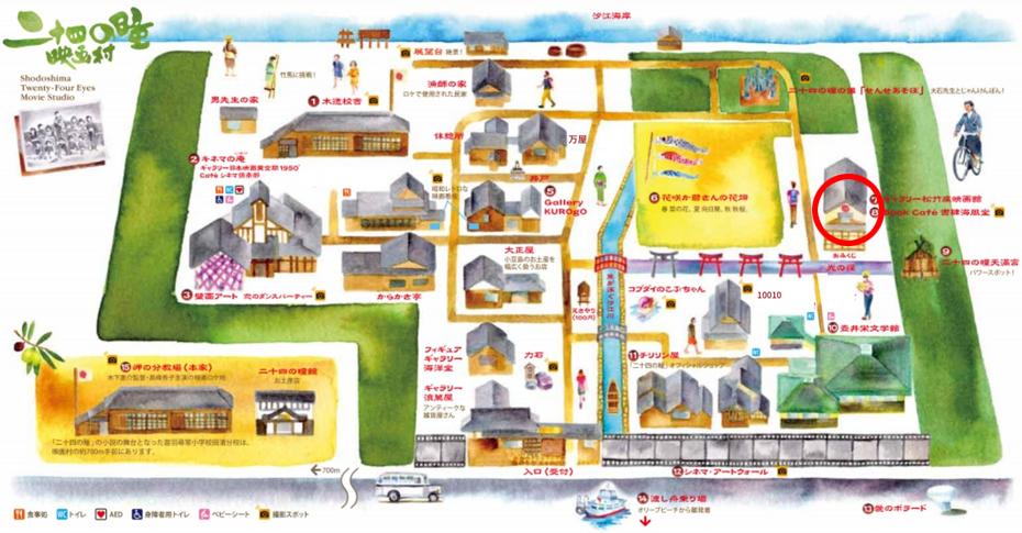 小豆島回想映画祭地図